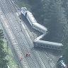 'A jolt, then crashes': Passengers recount train horror