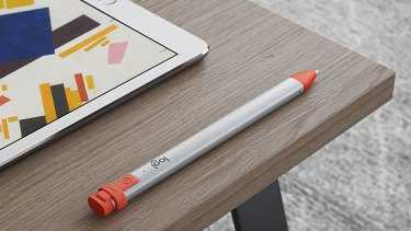 The Logitech Crayon's rubbery orange accents makes it easy to grab out of your bag.