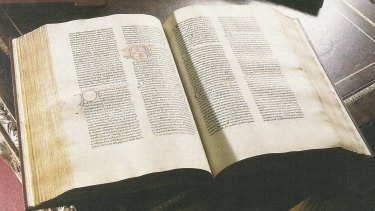 The Schoeffer bible, circa 1472, was sold to the Baillieu Library at the University of Melbourne for $200,000.