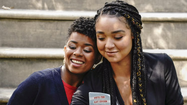 Aisha Dee (right) with Alexis Floyd in The Bold Type