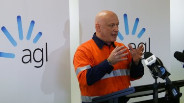 AGL CEO Andy Vessey. The energy provider has posted a $1 billion profit.