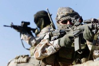 Australian SAS soldiers in Afghanistan.