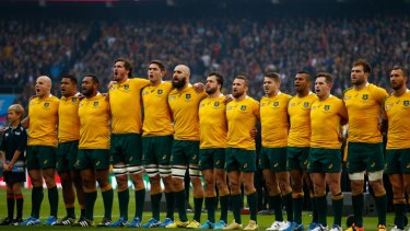 The Wallabies at the 2015 Rugby World Cup.