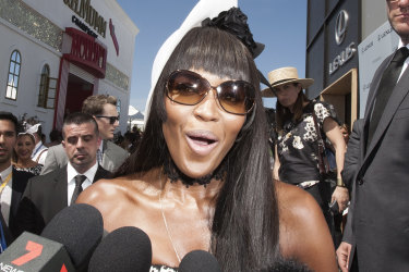 Naomi Campbell at Flemington on Derby Day.