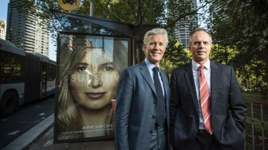 JCdecaux chairman and Co - CEO Jean-Francois Decaux and Australian CEO Steve O'Connor.