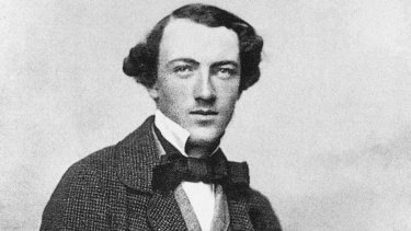 Tom Wills as a young man in 1857 or 1958, roughly the same time he instigated Aussie rules.
