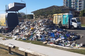 Batteries are believed to have caused eight fires in council waste trucks in the past financial year, prompting a blunt warning from the lord mayor.
