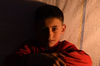 Hussein Hatem, 10, lives with his family at Khazer Camp 1. During his time in Mosul he witnessed his friend being beheaded at school by IS fighters.