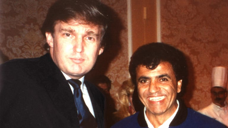 Long before Donald Trump moved into the White House, he and Queensland hairdresser Stefan Ackerie struck up a friendship. The pair is at the 1985 National Offshore Powerboat Championship, which Mr Trump sponsored.