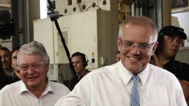 Prime Minister Scott Morrison and member for Flynn Ken O'Dowd.