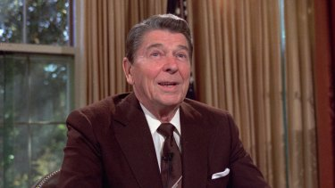 Ronald Reagan, pictured in 1985, was hit by scandal over the Iran-Contra affair.