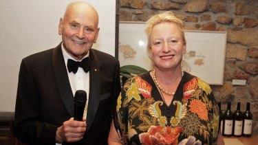 Vanya Cullen with pre-eminent wine reviewer James Halliday, one of Margaret River's biggest fans.