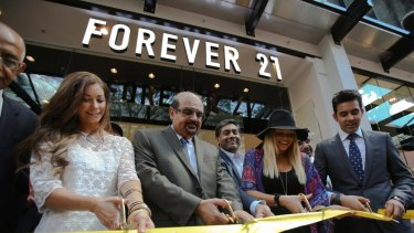 The opening of Australia's first Forever 21 store in Brisbane.