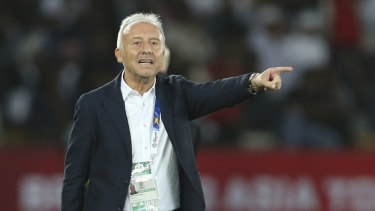 Familiar foe: UAE manager Alberto Zaccheroni was the coach of Japan when they beat Australia in the 2011 Asian Cup.