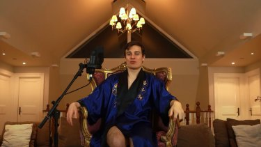 Jordan Shanks-Markovina, pictured in one of the videos he is being sued on.