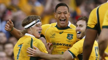 Good headspace: Michael Hooper says Israel Folau is in a positive frame of mind.