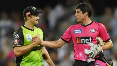 Bragging rights: Shane Watson's Thunder drew first blood against the Sixers earlier in the season.