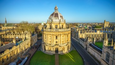 Aerial view of the Oxford University City
