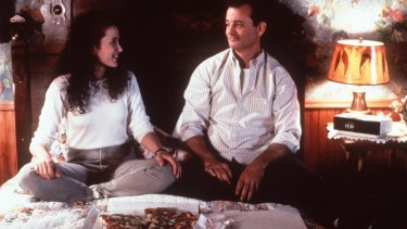 Andie MacDowell and Bill Murray in the movie Groundhog Day.
