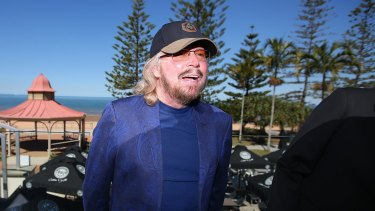 Barry Gibb, back on the Redcliffe peninsula in 2015.