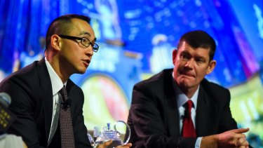 Melco boss Lawrence Ho (left) and James Packer (right) are both expected to be called to the inquiry.