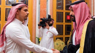 Jamal Khashoggi's son Salah (left), who cannot leave Saudi Arabia, was summoned to meet the Crown Prince on Tuesday.