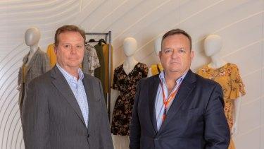 Myer CFO Nigel Chadwick and CEO John King.