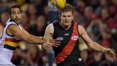 Important return: Bomber Michael Hurley.