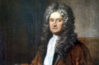 First edition works by Isaac Newton were among the books found.