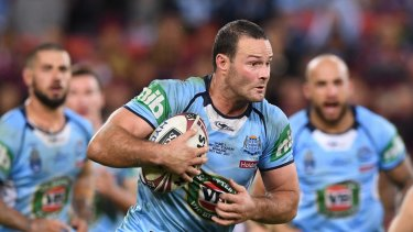 NSW skipper Boyd Cordner in action in game one.