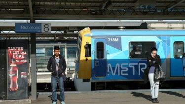 Trains at Richmond station.