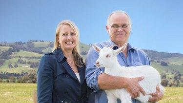 Bubs Australia chief executive Kristy Carr and executive director John Gommans on Australia's largest goat farm.