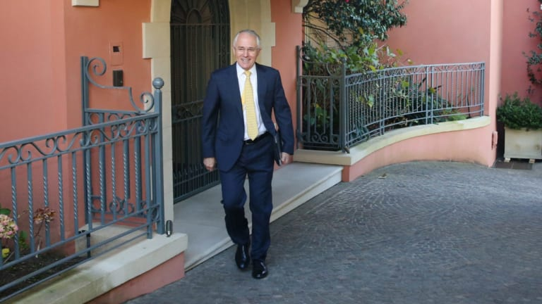 Malcolm Turnbull, pictured at his Point Piper mansion, is paid well. Has he earnt it?