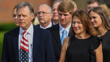 """Fred and Cindy Warmbier's lawsuit says their son Otto arrived home in a coma """"jerking violently and howling""""."""