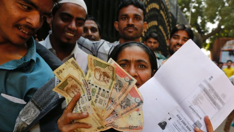 Chaos ensued when India invalidated its two most popular notes.