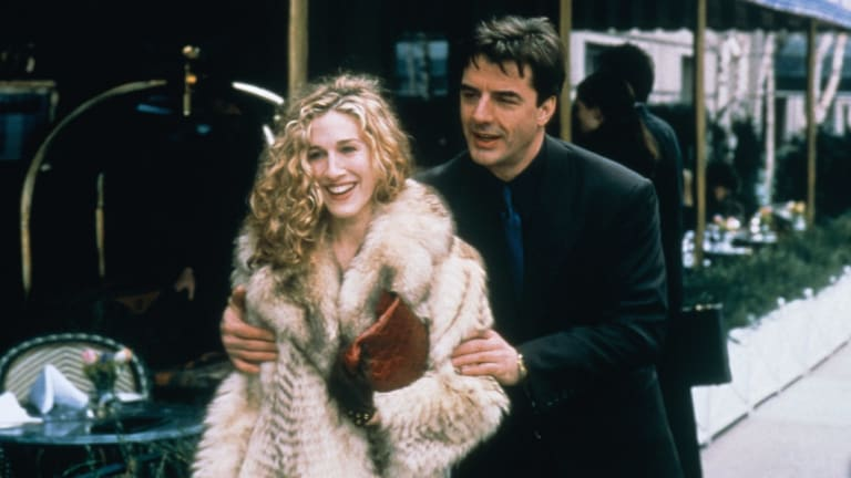 Mr. Big (Chris Noth) and Carrie (Sarah Jessica Parker) in Sex and City.