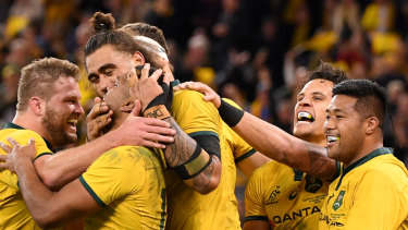 And now you're back, from outer space ... The Wallabies turned Australian rugby on its head with one All Blacks win.