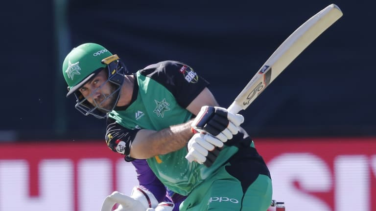 Glenn Maxwell's big hitting couldn't get the Stars over the line.