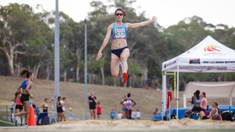 """Leap of faith: Athletics ACT will host a """"festival of athletics"""" in Canberra next year."""