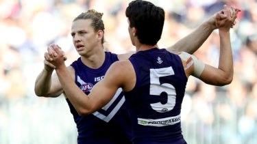 Nat Fyfe and Adam Cerra represent the bricks and mortar of Fremantle's rebuild.