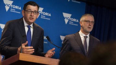 Premier Daniel Andrews and Special Minister of State Gavin Jennings.