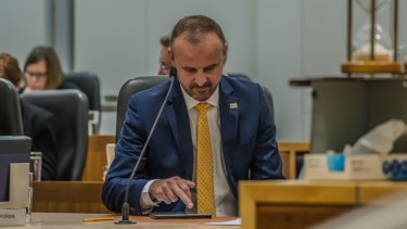 Chief Minister Andrew Barr has introduced a bill to expand land tax to vacant rentals and increase the tax on foreign investors.