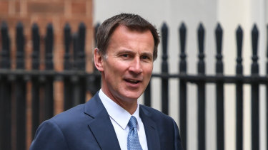 British Foreign Secretary Jeremy Hunt arrives for a weekly meeting of cabinet ministers at number 10 Downing St in London on Tuesday.