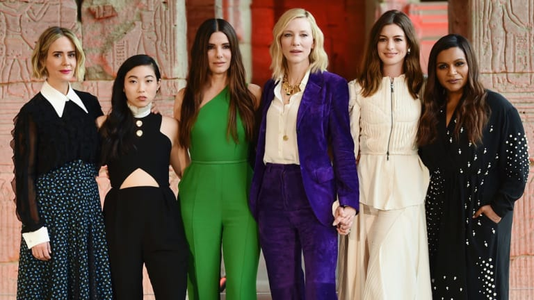 From left: Sarah Paulson, Awkwafina, Sandra Bullock, Cate Blanchett, Anne Hathaway and Mindy Kaling from Ocean's 8.