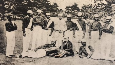 Johnny Mullagh and his teammates of the 1868 touring side.
