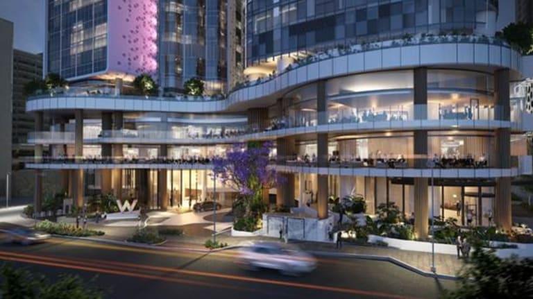 W Brisbane and dining establishments at the $1 billion mixed-use Brisbane Quarter project.