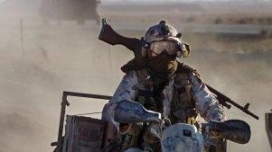 Australian SAS Soldiers on Patrol near Bagram Afghanistan.