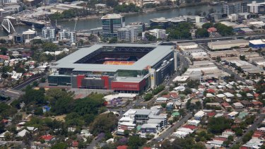 Suncorp Stadium in Brisbane, where the Blues go against the Maroons on Wednesday night.