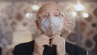 """Hungarian orchestra conductor Ivan Fischer of the Budapest Festival Orchestra has invented a """"music-enhancing"""" face mask."""