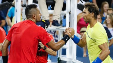 Rafael Nadal has the better of the win-loss record between he and Nick Kyrgios.